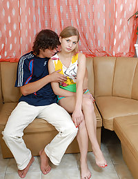 Check up this porn gallery where sexy blonde teen was fucked hard by one pervert fellow.